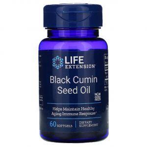 Масло черного тмина, Black Cumin, Life Extension, из семян, 60 капсул (Default)