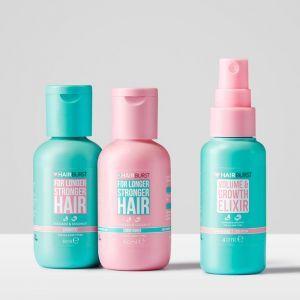 Набор трио-мини для роста и здоровья волос (шампунь + кондиционер + спрей), For Longer Stronger Hair, Hairburst, 60 мл / 60 мл / 40 мл