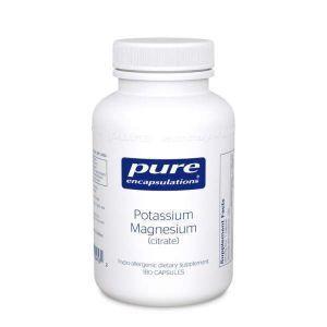 Калий и Магний (цитрат), Potassium Magnesium (citrate), Pure Encapsulations, 180 капсул