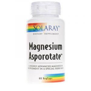 Магний, Magnesium Asporotate, Solaray, 400 мг, 60 вегетарианских капсул