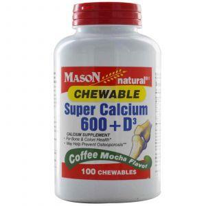 Жевательный кальций, Mason Vitamins, 100 таблеток