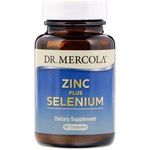 Цинк плюс селен, Zinc Plus Selenium, Dr. Mercola, 90 капсул