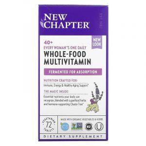 Мультивитамины для женщин 40+, One Daily Multi, New Chapter, 1 в день, 72 таблетки
