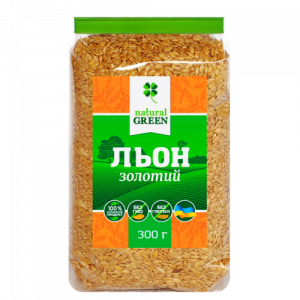 Золотой лён, NATURAL GREEN, 300 г