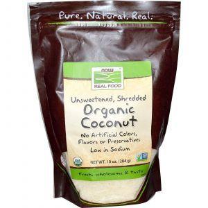 Кокос сушеный (органик), Now Foods, 284 г