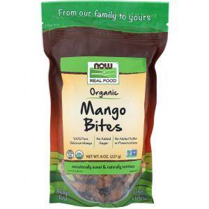 Манго, Organic Mango Bites, органик, Now Foods, 227 г