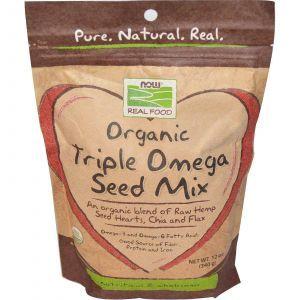 Смесь семян (органик), Now Foods, 340 г