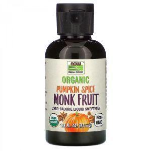Экстракт архата, Erythritol with Monk Fruit, Now Foods, органик, порошок, 70 г (Default)