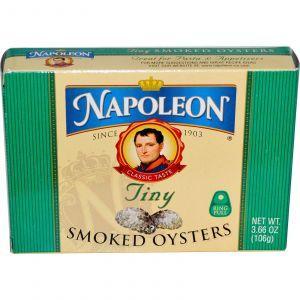 Копченые устрицы крошечные, Smoked Oysters, Napoleon Co., 106 г
