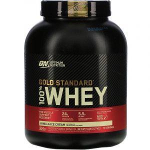 Протеин, Gold Standard, Optimum Nutrition, ванильное мороженое, 2.27 кг