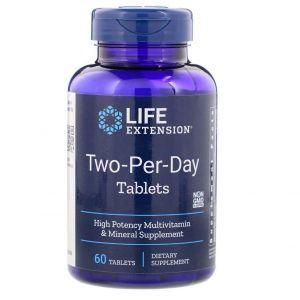 Мультивитамины, Two-Per-Day Tablets, Life Extension, 60 таб.