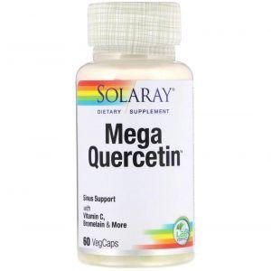 Мега кверцетин, Mega Quercetin, Solaray, 60 капсул