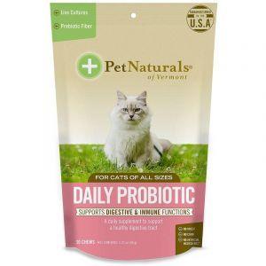 Пробиотик ежедневный для кошек, Daily Probiotic, Pet Naturals of Vermont, 30 жевательных таблеток, 36 г