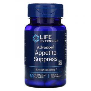 Снижение веса, Appetite Suppress, Life Extension, 60 капсул
