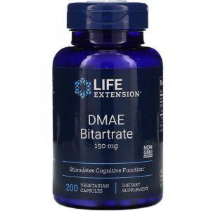 DMAE (Диметиламиноэтанол), DMAE Bitartrate, Life Extension, 200 кап
