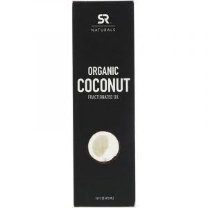 Кокосовое масло, Coconut Fractionated Oil, Sports Research, органическое, 473 мл