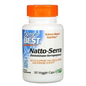 Наттокиназа и серрапептаза, Best Natto-Serra, Doctor's Best, 90 капсул (Default)