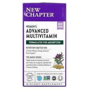 Мультивитамины для женщин, Every Woman Multivitamin, New Chapter, 120 таблеток