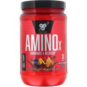 Аминокислоты и ВСАА, фруктовый пунш, Amino X, BSN, 435 г.