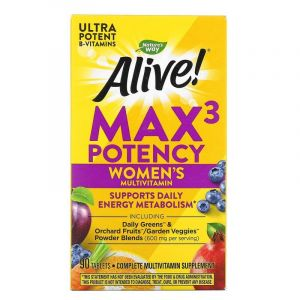 Витамины для женщин, Alive, Women's Multi-Vitamin, Nature's Way, 90 табле