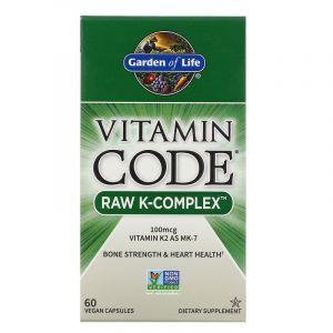 Витамин К, Комплекс, Garden of Life, 60 капс