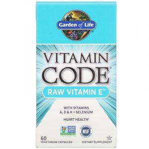 Сырой Витамин Е, Vitamin Code, Garden of Life, 60 капсул (Default)
