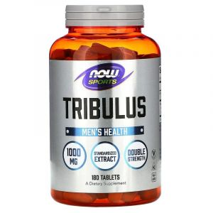 Трибулус, Tribulus, Now Food, Sports, 1000 мг, 180 таблеток
