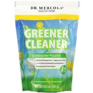 Безфосфатный порошок для посудомоечной машины, Dr. Mercola, 431 г (24шт)