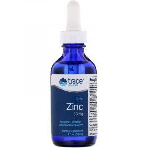 Ионный цинк, Ionic Zinc, Trace Minerals Research, 50 мг, 59 мл