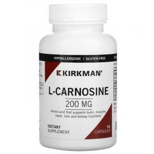 L-карнозин, L-Carnosine, Kirkman Labs, 200 мг, 90 капсул (Default)