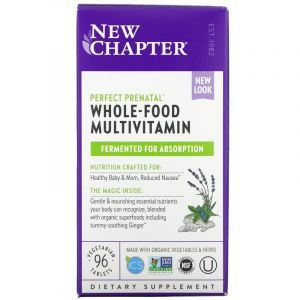 Мультивитамины для беременных, Perfect Prenatal Multivitamin, New Chapter, 96 таблеток (Default)