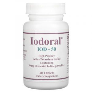 Йодорал, Iodoral, IOD-50, Optimox, 50 мг, 30 таблеток