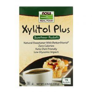 Ксилитол плюс (сахарозаменитель), Now Foods, 75