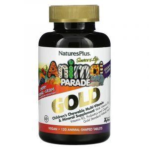 Витамины для детей (Children's Multi-Vitamin), Nature's Plus, Animal Parade, ассорти вкусов, 120 животных
