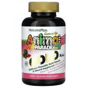 Витамины для детей, Nature's Plus, вкус арбуза, 120 шт