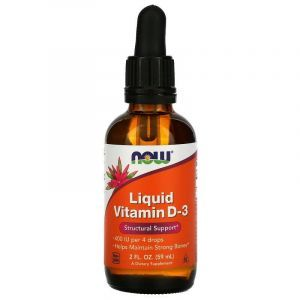 Витамин Д3, Liquid Vitamin D-3, Now Foods, жидкий, 10 мкг (400 МЕ),  59 мл