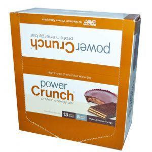 Протеиновые батончики, арахисовое масло, Power Crunch Protein Energ, BNRG, 12 шт (40 г)