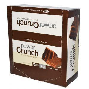 Протеиновые батончики, тройной шоколад, Power Crunch Protein Energ, BNRG, 12 шт (40 г)
