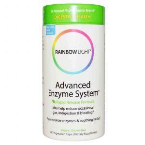 Пищеварительные ферменты, Rainbow Light, 180 кап