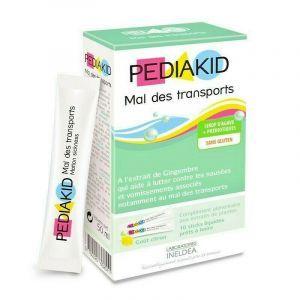 Средство от тошноты, рвоты, укачивания в транспорте, Nauseesvomissements Mal Des Transports, Pediakid,  для детей, 10 стиков