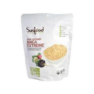 Порошок корня мака, Raw Organic Maca Extreme, Sunfood, органик, 227 г