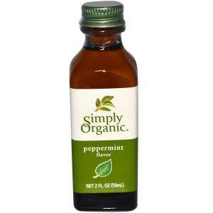 Экстракт перечной мяты (Peppermint Flavor), Simply Organic, 59 мл