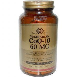 Коэнзим Q10 вегетарианский, Solgar, 60 мг, 180 кап.