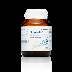 Поддержка настроения, 5-гидрокситриптофан, Сомнолин, Somnolin, Metagenics, 60 капсул