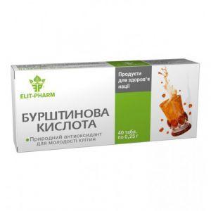 Янтарная кислота, ЭЛИТ-ФАРМ, 40 таблеток