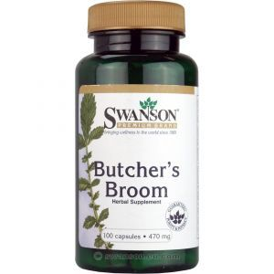 Иглица колючая, Butcher's Broom, Swanson, 470 мкг, 100 капсул