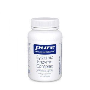 Ферменты, комплекс, суставы, ткани и мышцы, Systemic Enzyme Complex, Pure Encapsulations, 180 капсул