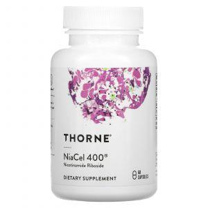 Никотинамид рибозид, NiaCel 400, Thorne Research, 60 капсул