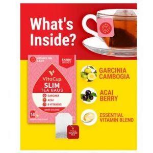 Чай с гарцинией камбоджийской и асаи, Slim Tea Bags, VitaCup, 28 шт