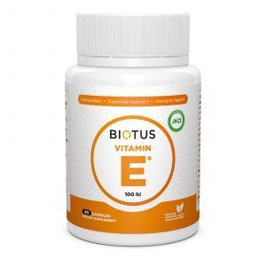 Витамин Е, Vitamin Е, Biotus, 100 МЕ, 60 капсул